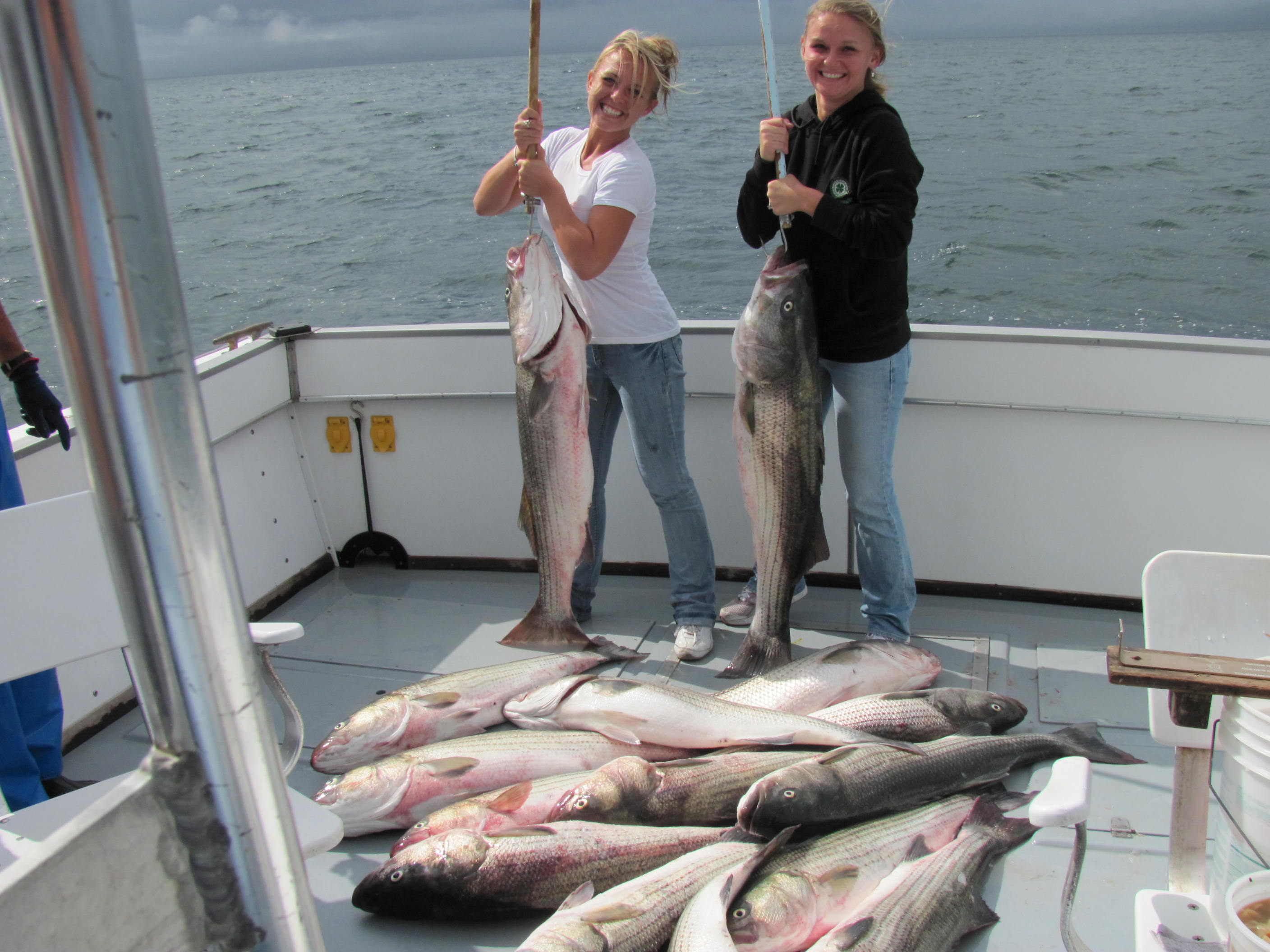 Take the girls fishing aboard the comfortable charter boat Misty