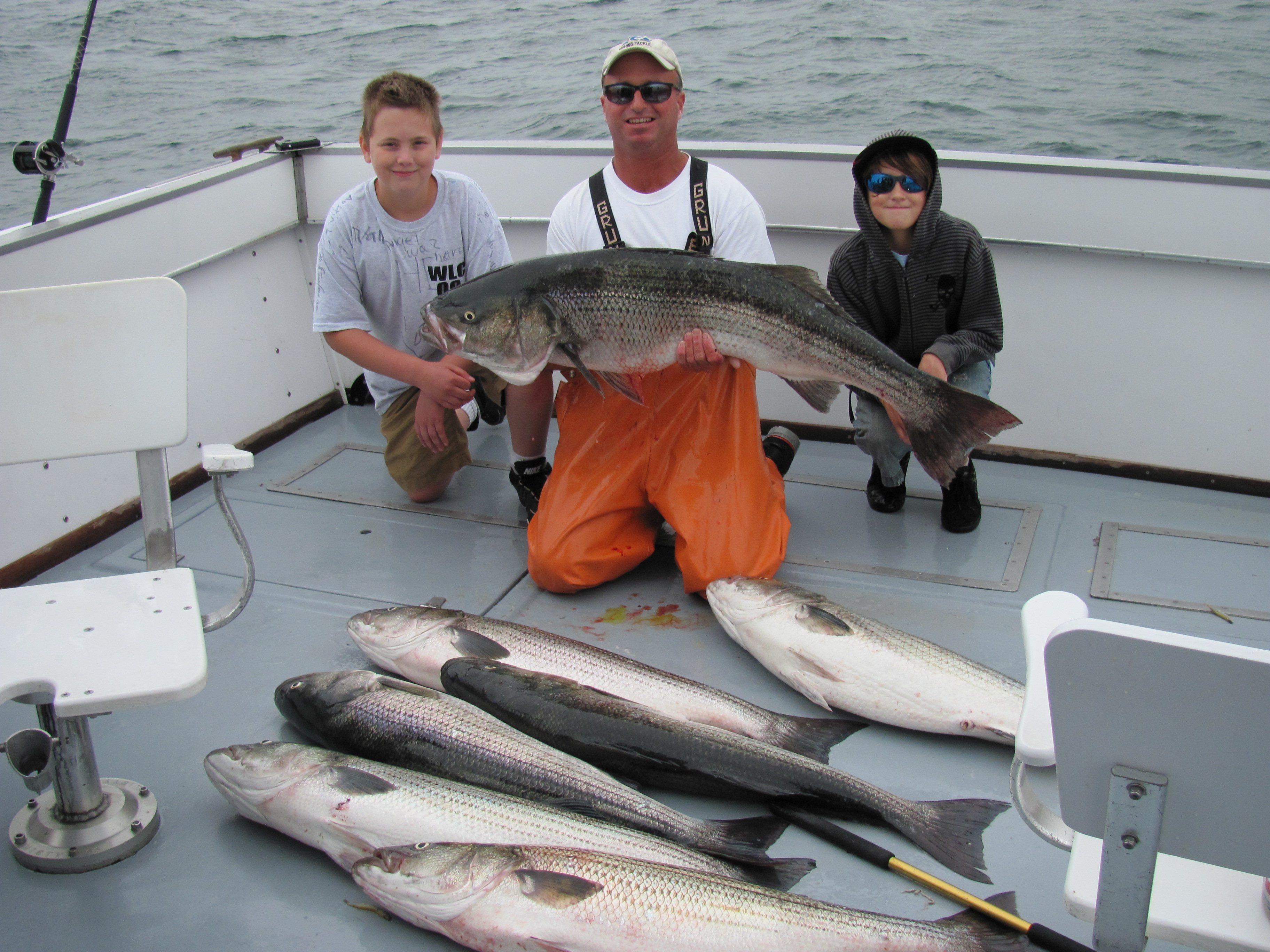 RI Sportfishing Charter Boat; 48 pounder with a few 30s