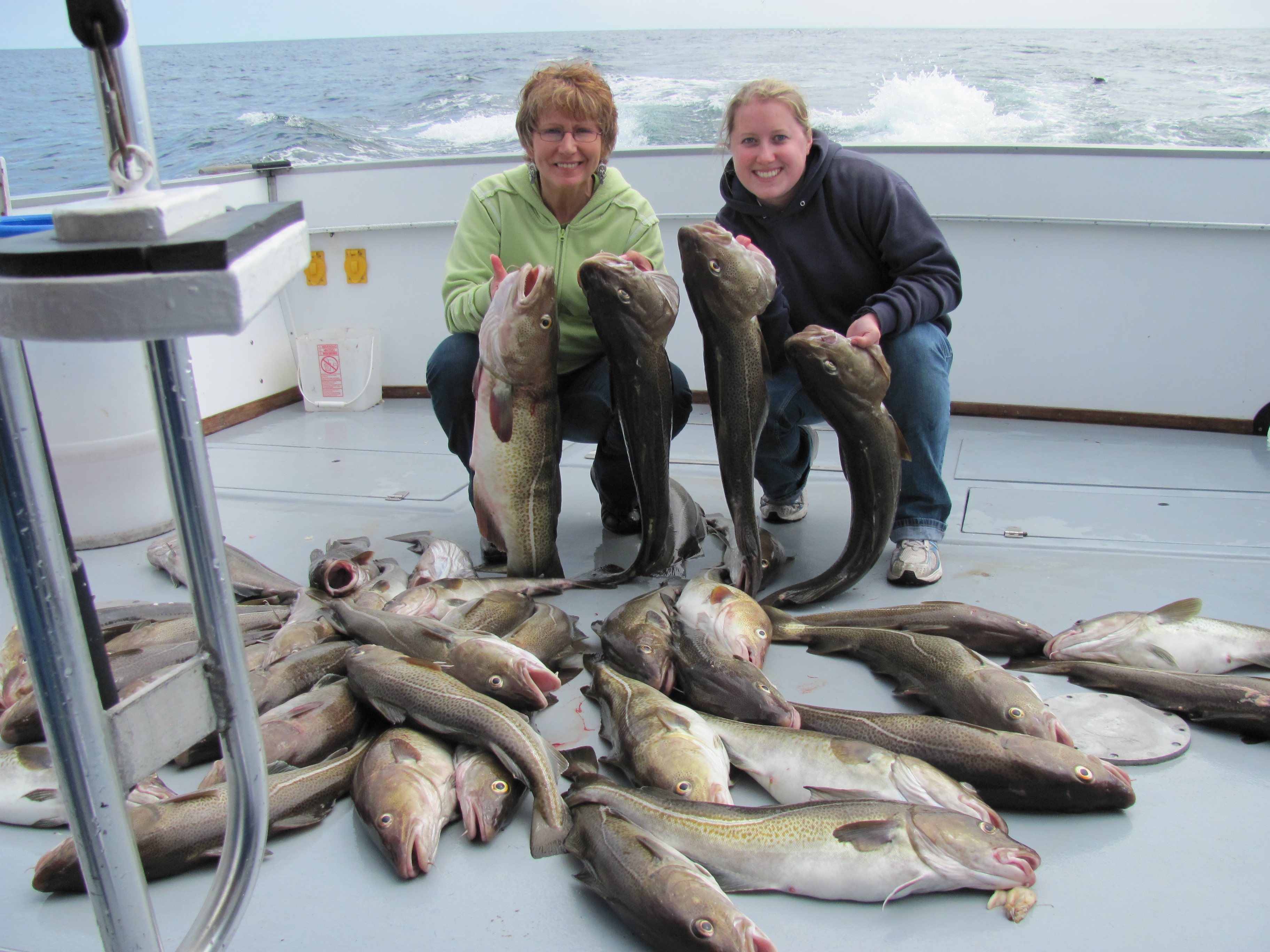Catching Codfish on the RI Charter Boat Misty