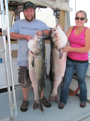 47 and 49 pound stripers!