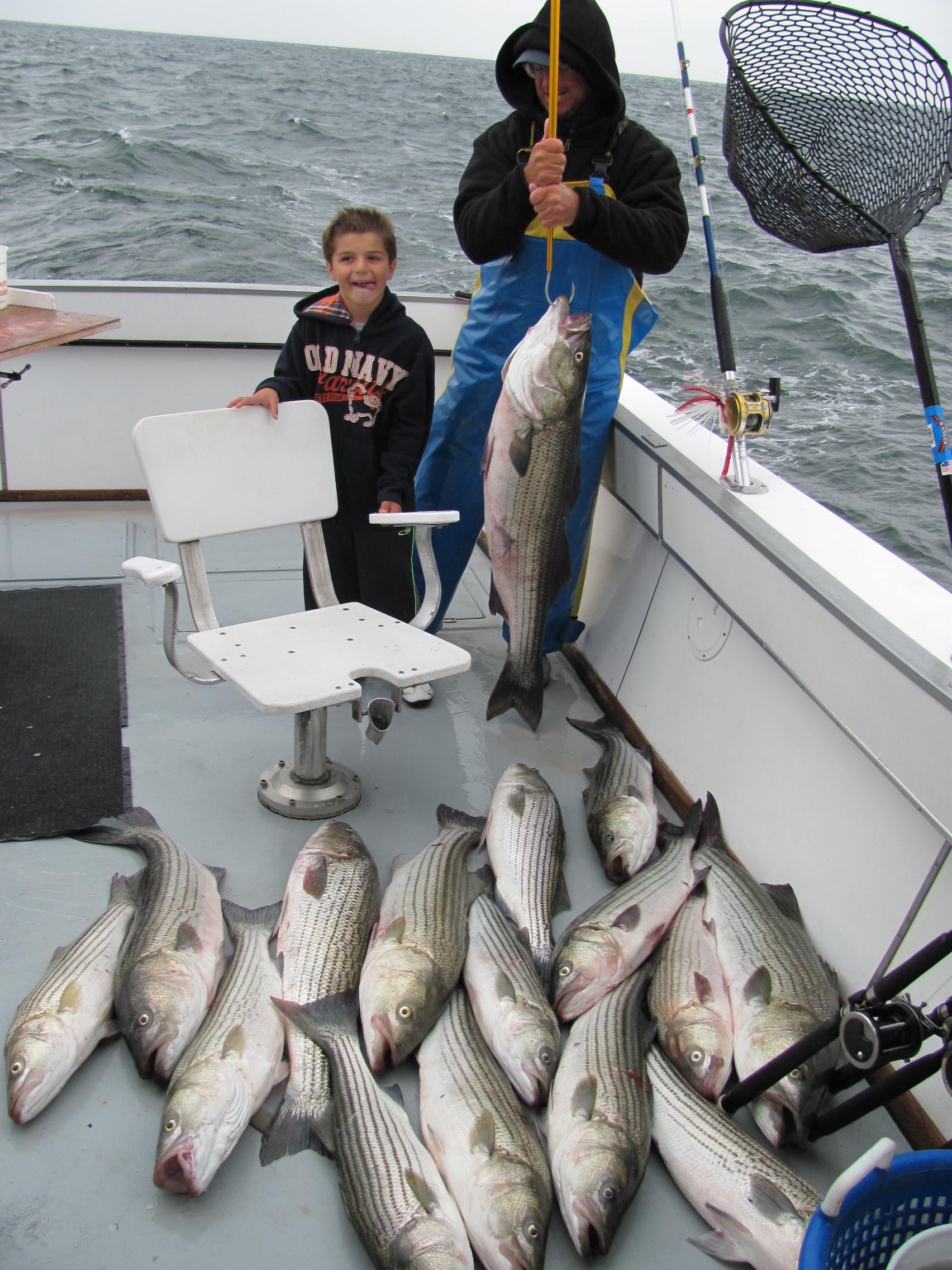 16 bass up to 30 pounds! Caught on RI Charter Boat Misty